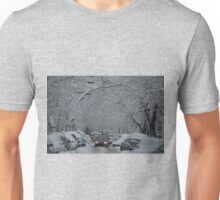 Montreal streest after a snowstorm Unisex T-Shirt