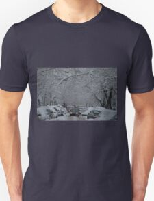 Montreal streest after a snowstorm T-Shirt