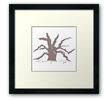 Tree with Moss in color Framed Print