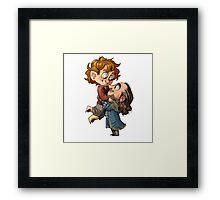 Bilbo and Thorin Framed Print