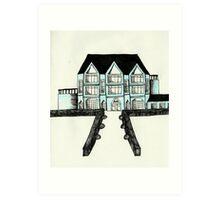 Mansion Illustration Art Print