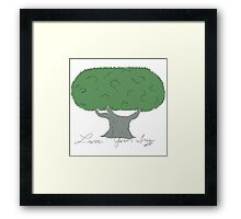 Olive Tree in color Framed Print