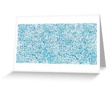 Blue & White Splatter Painting Abstract Greeting Card