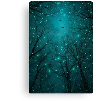 Silently, One by One, the Stars Blossomed (Geometric Stars Remix) Canvas Print