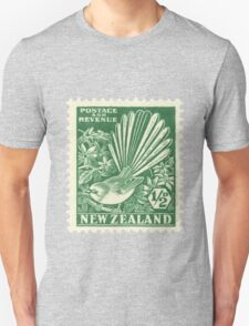 Fantail - New Zealand stamp Unisex T-Shirt