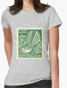 Fantail - New Zealand stamp Womens Fitted T-Shirt