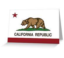 California Republic Flag Greeting Card