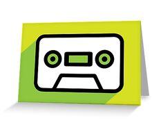 Audio tape icon Greeting Card