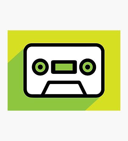 Audio tape icon Photographic Print
