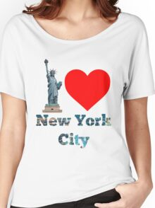 I Love New York City #NYC #NewYork #NYCLights #TimeSquare Women's Relaxed Fit T-Shirt