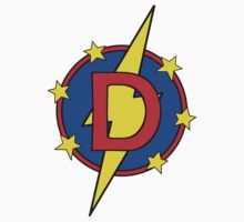 My Cute Little Super Hero - Letter D Baby Tee