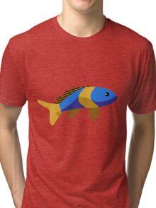 Cute fish cartoon Tri-blend T-Shirt
