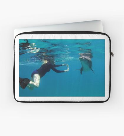 Erika plays with dolphin Laptop Sleeve