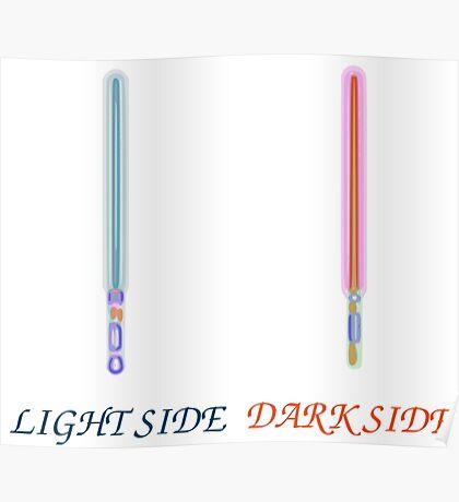 Light vs Dark side Poster