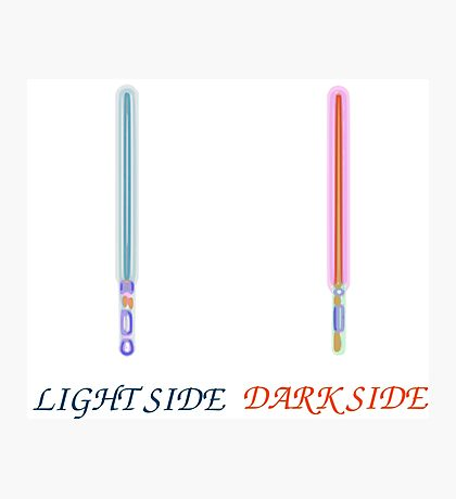 Light vs Dark side Photographic Print