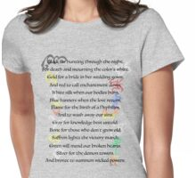 Shadowhunters Nursery Rhyme Womens Fitted T-Shirt