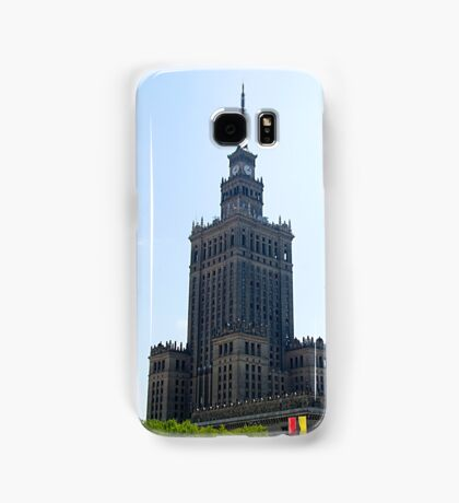 Stalinist and American architecture in Warsaw, Poland Samsung Galaxy Case/Skin