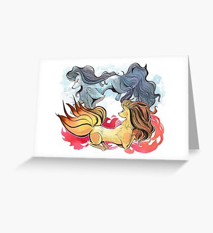 Pokemon - Ninetales Greeting Card
