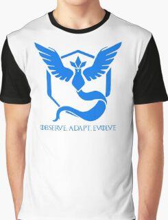 Minimal Pokemon Go - Team Mystic - Water, blue, anime Graphic T-Shirt