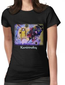Kandinsky - Yellow-Red-Blue Womens Fitted T-Shirt