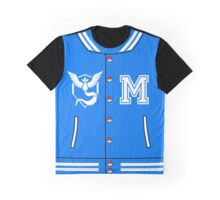 Pokémon Go Team Mystic - Varsity Letterman Jacket Design Graphic T-Shirt