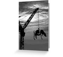 Crane cow Greeting Card