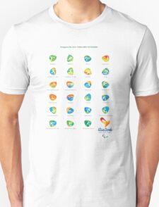 PICTOGRAM PARALYMPIC GAMES RIO 2016 Unisex T-Shirt