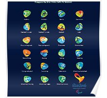 PICTOGRAM PARALYMPIC GAMES RIO 2016 Poster
