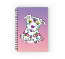 Staffordshire Bull Terrier Sugar Skull Spiral Notebook