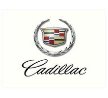 cadillac logo Art Print
