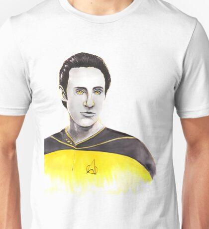 Star Trek Next Generation Data Watercolor Unisex T-Shirt