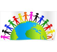 Kids/People United On Earth Poster