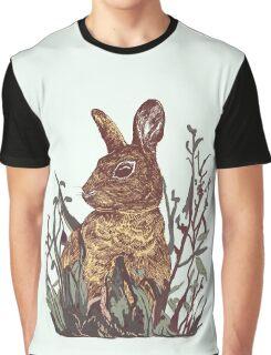 Foliage Bunny Graphic T-Shirt