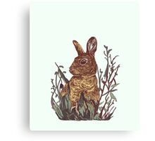 Foliage Bunny Canvas Print