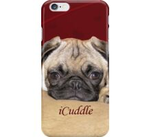 Cute iCuddle Pug Puppy Art, iPhone & iPad Cases iPhone Case/Skin