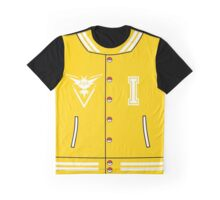 Pokémon Go Team Instinct - Varsity Letterman Jacket Design Graphic T-Shirt