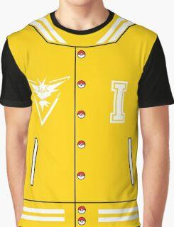 Pokémon Go Team Instinct - Varsity Letterman Jacket Design Graphic T-Shirt