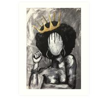 Naturally Queen Art Print