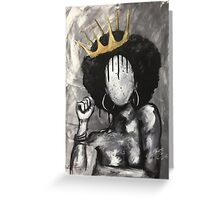 Naturally Queen Greeting Card