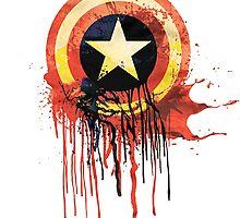 Captain america shield bleeding by taufiq