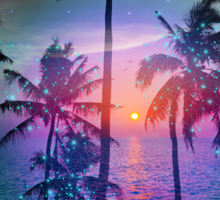 Dream of Paradise (Palm Tree Paradise) Sticker
