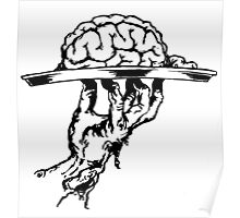 Brain On a Platter Ink Poster