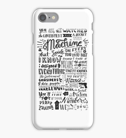 you are being watched {person of interest} iPhone Case/Skin