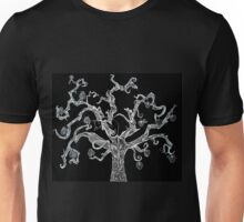 Gothic Tree and Cat Unisex T-Shirt