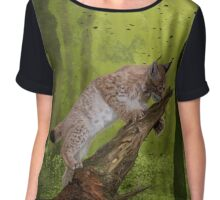 The Lynx and a Butterfly Chiffon Top