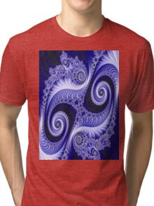 """""""PSYCHEDELIC ABSTRACT PAISLEY"""" Colorful Print Tri-blend T-Shirt"""