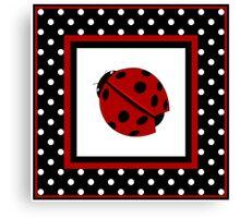 Ladybug  And Polka-dot  Canvas Print