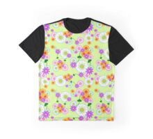 Full Floral Green Graphic T-Shirt