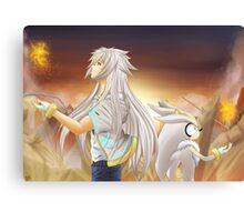 Fire Flower Of Love Canvas Print