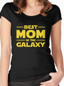 Star Wars - Best Mom in The Galaxy Women's Fitted Scoop T-Shirt